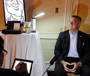 Live Digital Caricatures, corporate events, anniversaries, weddings, company parties, tradeshows, ideas for entertainment, mitzvahs, 50th birthday party, unique ideas, company functions