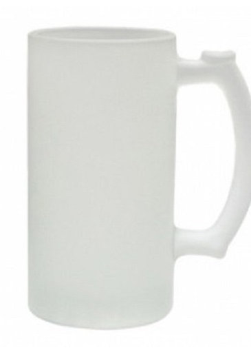 Customized Caricature on a Frosted Glass Stein - Base price below