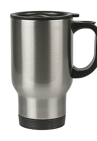 Customized Caricature on a Stainless Steel Travel Mug - Base price below