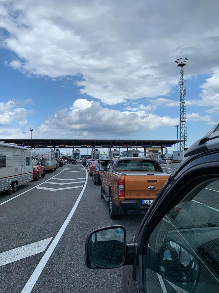 Wachten op de ferry naar Trelleborg