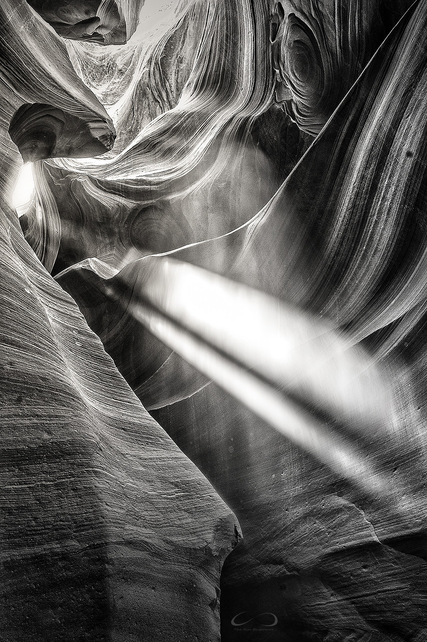 Light Shafts in Lower Antelope Canyon