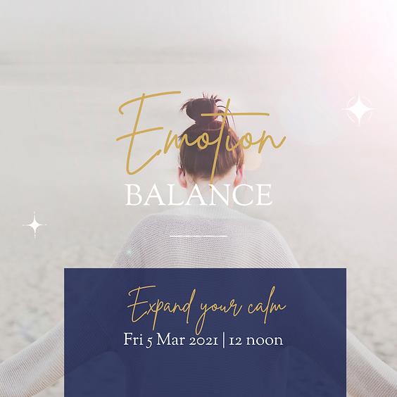 Energy Event - Emotion Balance - 12 noon