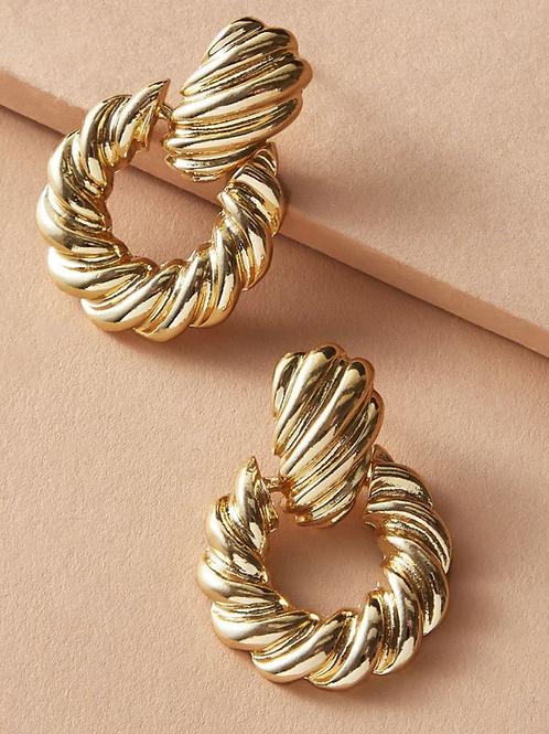 """""""Throwback Girl"""" Gold Earrings"""