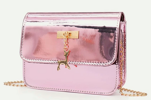 Blushing Shine Chained Purse