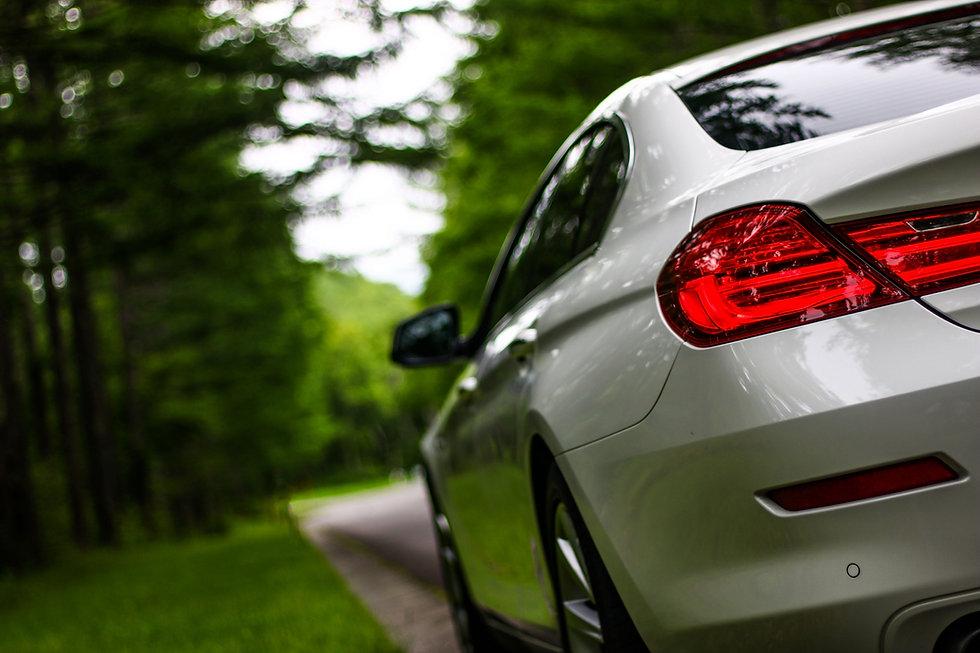 森を走る自動車
