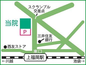 上福岡皮膚科の地図