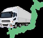トラックと日本地図