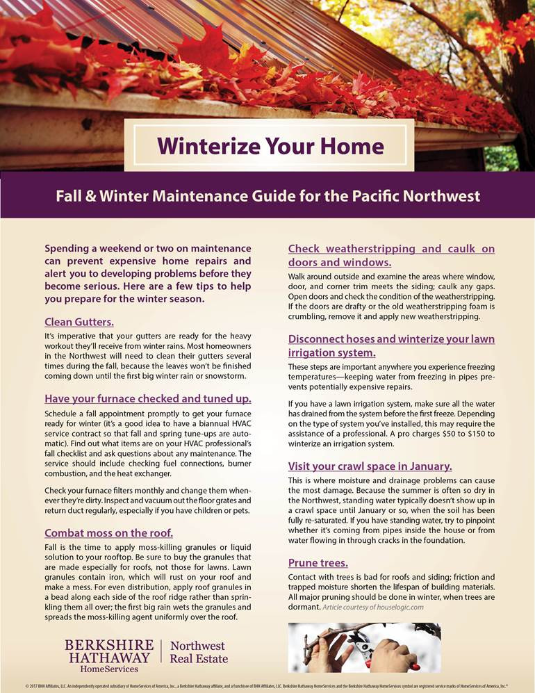 Winterize Your Home | Pacific Northwest