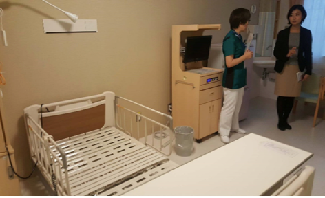 Image9. Each patient has a table, TV, a fridge, and a drawer with a lock for valuables in the bedroom