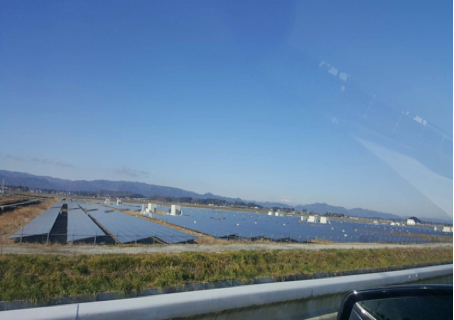 Image12. The solar power system in Soma City
