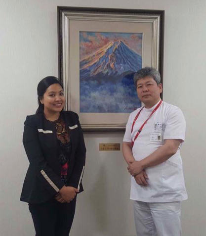 Image 14: Photo with Mr. Oikawa, the hospital director