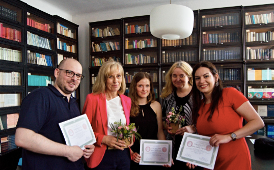 Certificate Ceremony - S2S Co- Founders with MUDr. Hnilicová, PhD and Prof. MUDr. Ostatniková, PhD