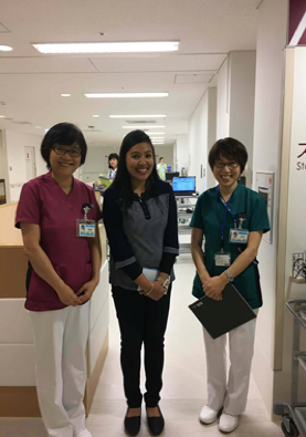 Image 3. Head nurse of the palliative care unit, the author, and vice nurse manager