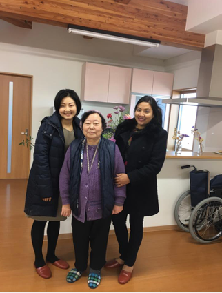 Image 11. Inside Nagaya with a resident and Dr. Morita