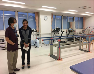 Image4. Author and Dr. Mizuochi in the rehabilitation room
