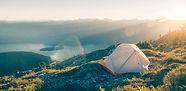 El acampar en las montañas