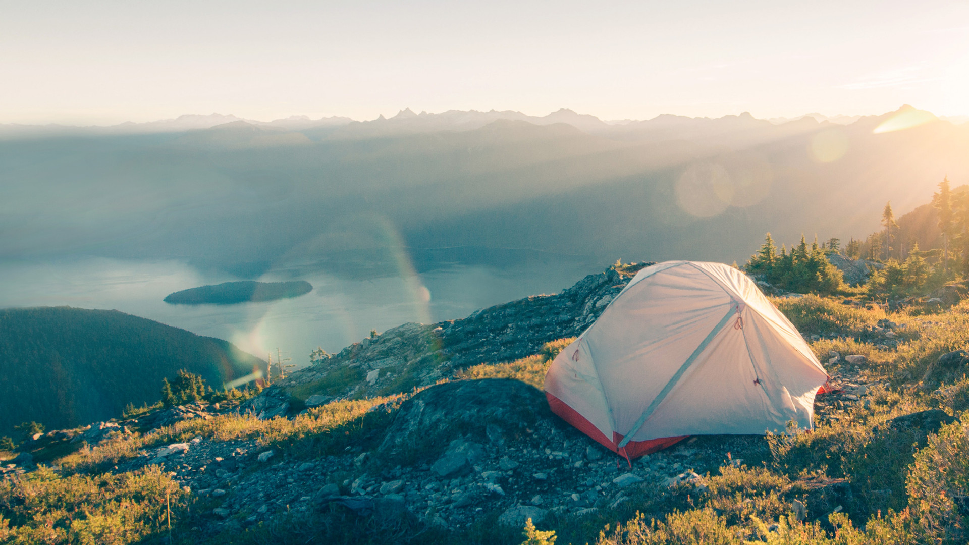 Dağları'nda kamp