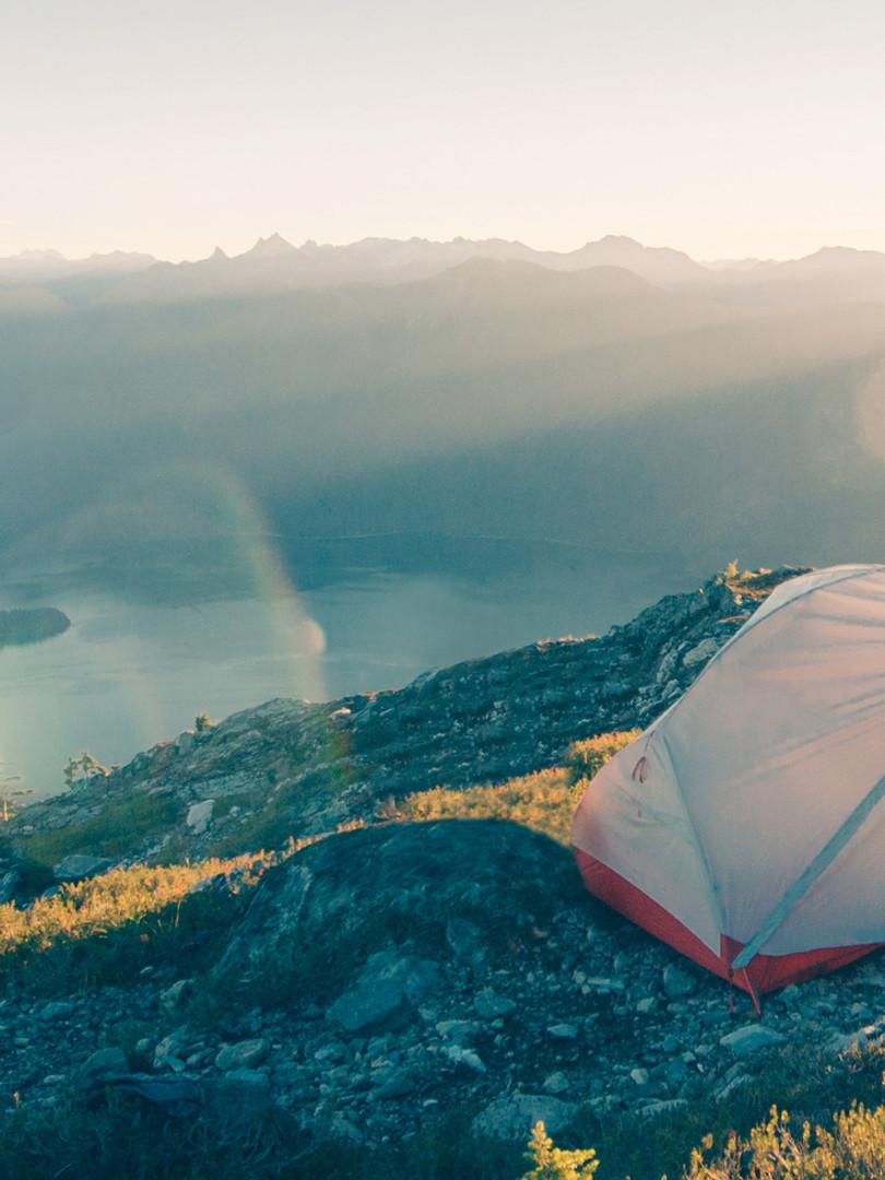 Camping in den Bergen