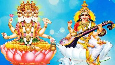 Brahma deva Saraswati.jpg