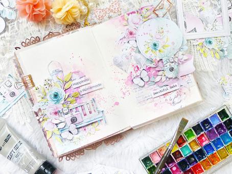 #MintayScrapDay Art Journal Tutorial