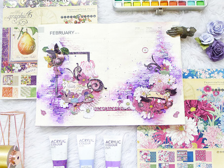 Fruits and Blossoms Art Journal Spread