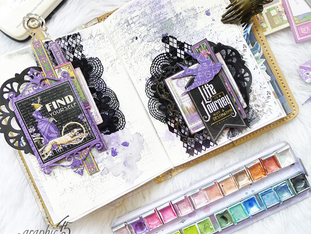 Life's A Journey Art Journal Spread #G45Selfie