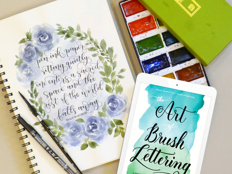 Book Review: The Art of Brush Lettering:  A Stroke-by-Stroke Guide to the Practice and Techniques of
