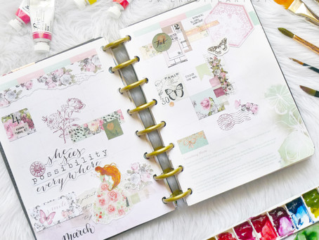 March 2019 Planner Setup Before-The-Pen