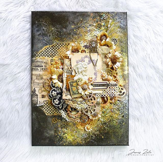 Created another mixed media canvas. I pl