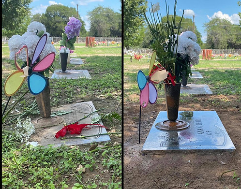 Headstone Leveling and Cleaning - Flush Marker