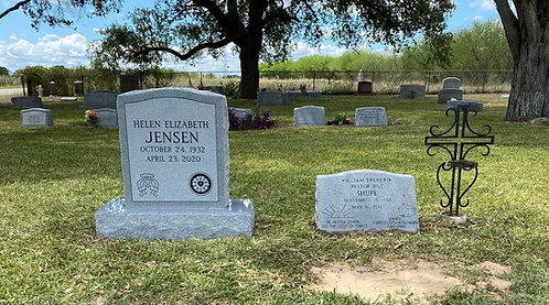 Headstone Leveling and Cleaning - Single Upright