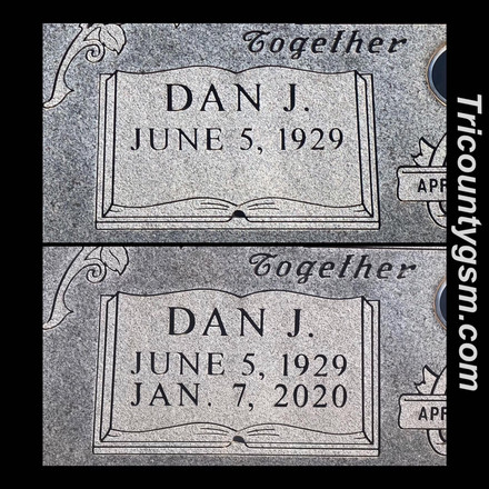 Death date engraving