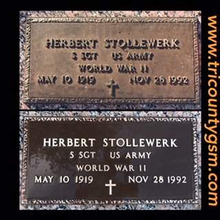Bronze Headstone Restoration