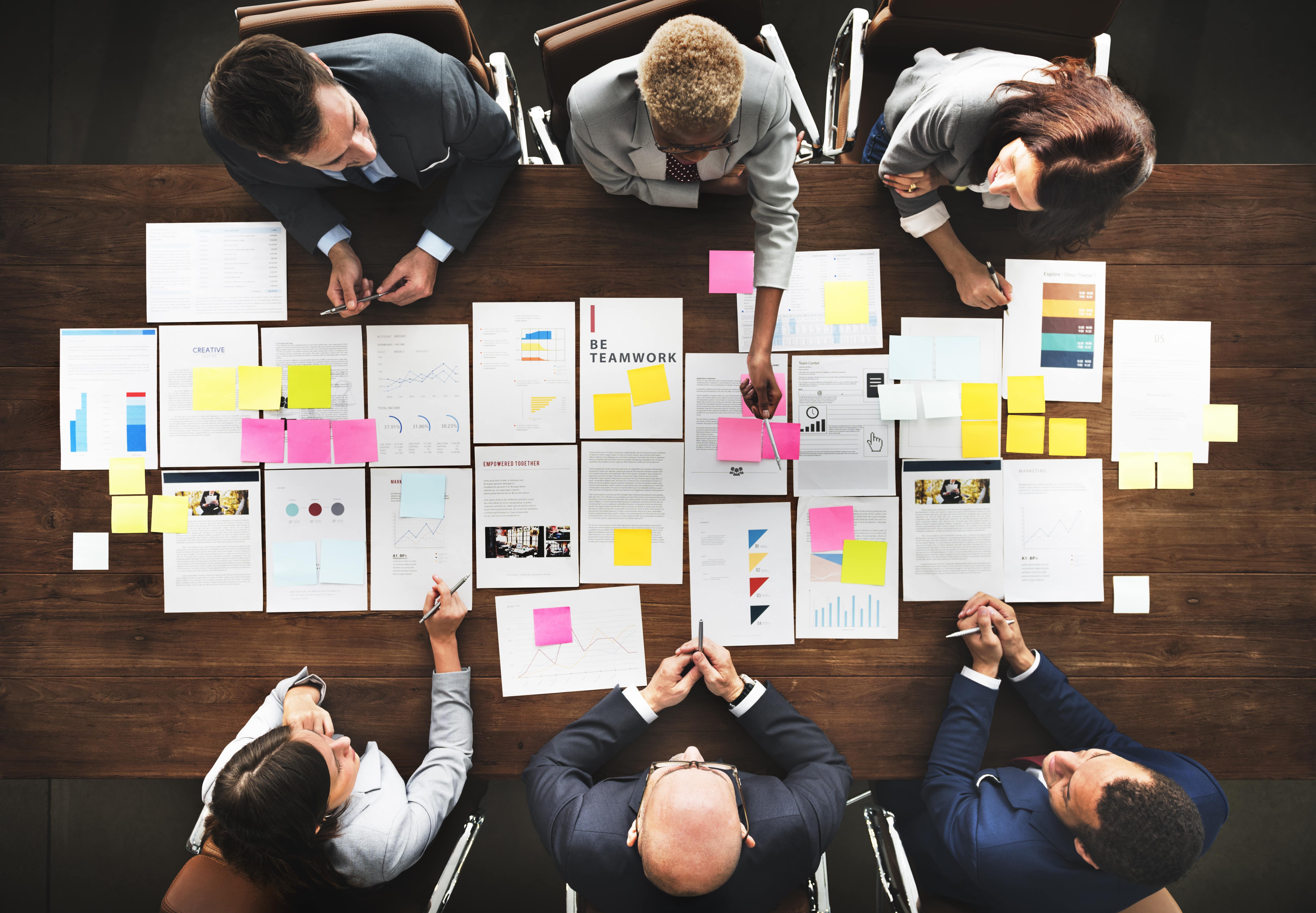 Risk management team meeting
