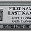Thumbnail: Gray Granite Headstone 28x16x4