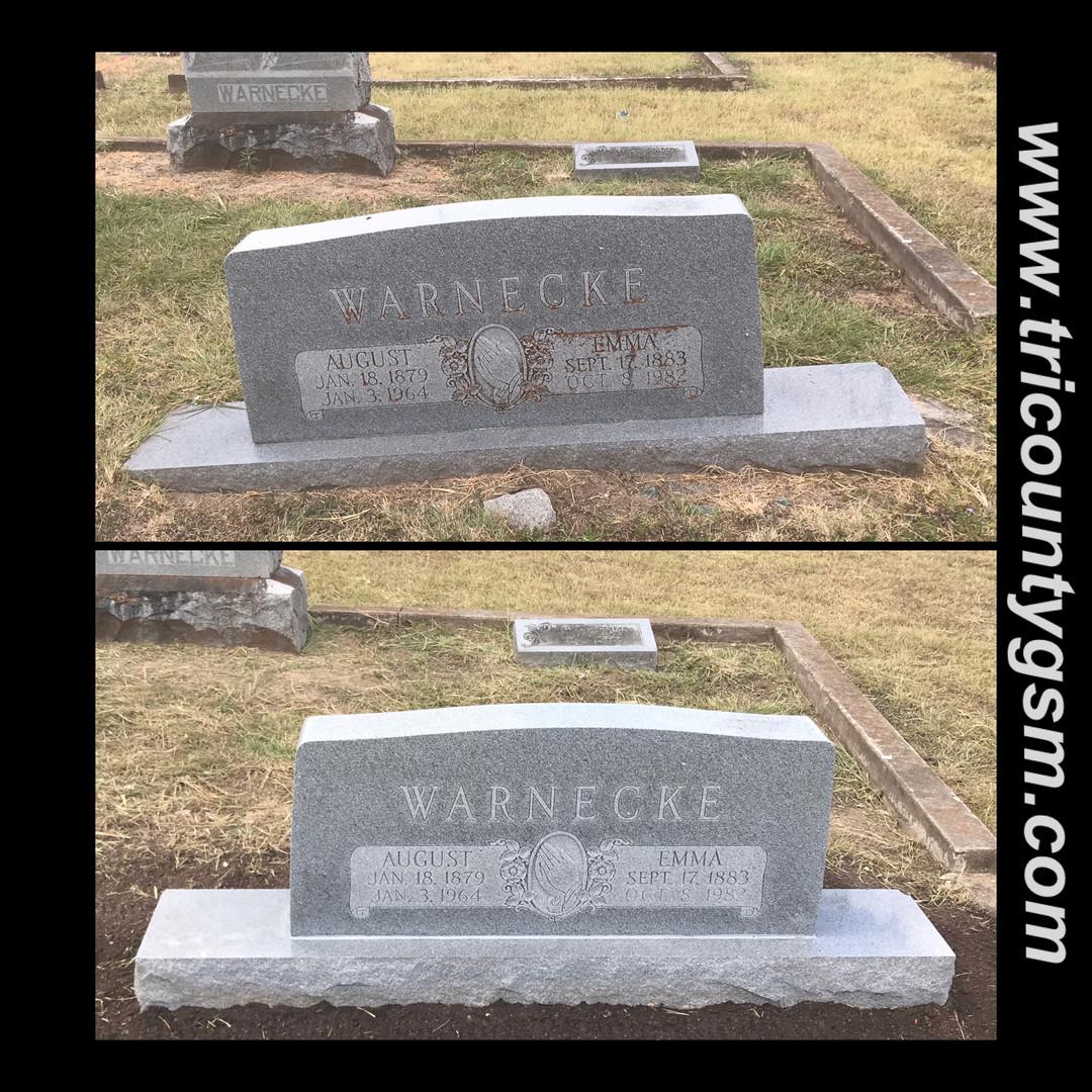 Headstone leveling