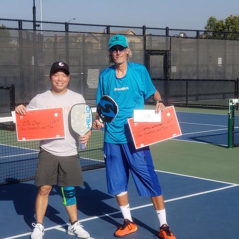 Champions Mo Chou and Mattias Johansson