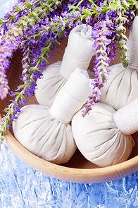 thai herbal compress massage with sage f