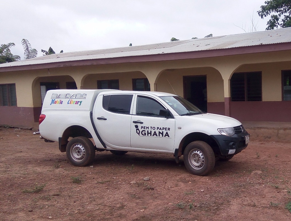 Pen to Paper Ghana's mobile library