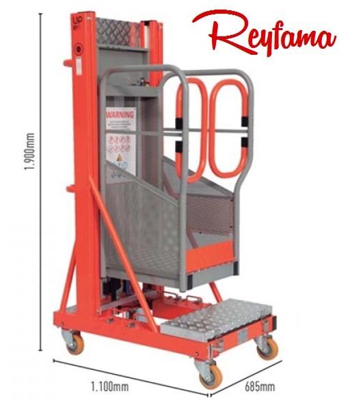Plataforma elevadora eléctrica Gayner @reyfama
