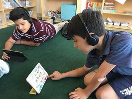 Kids on OGSTAR school THRIVE ELEM floor.