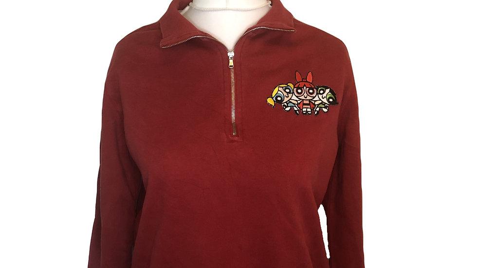 Powerpuff girls Half-Zip Sweatshirt