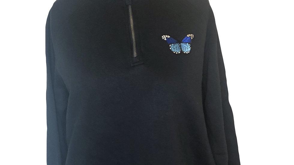 Butterfly Half-zip Sweatshirt