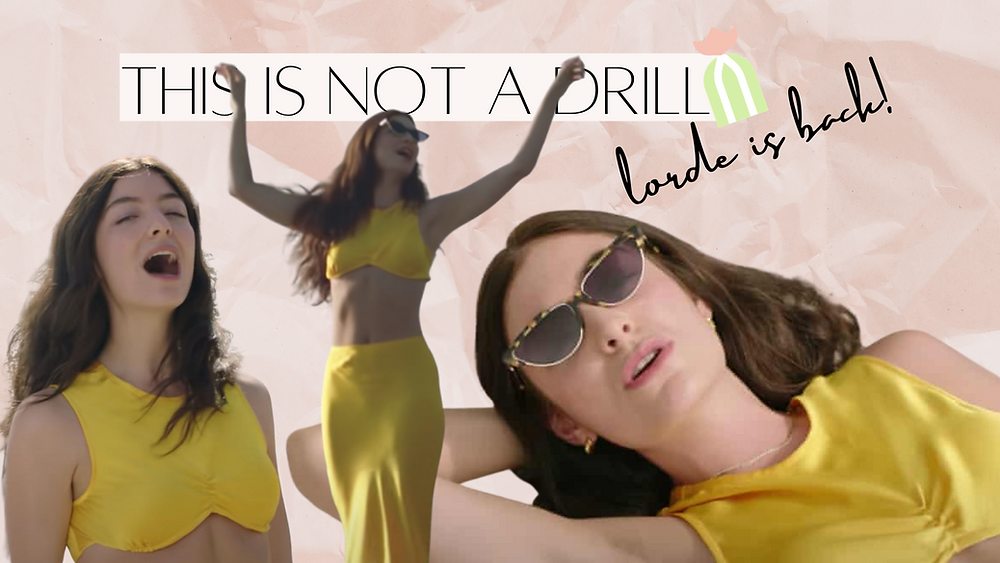 Lorde dressed in yellow outfit seen in Solar Power video