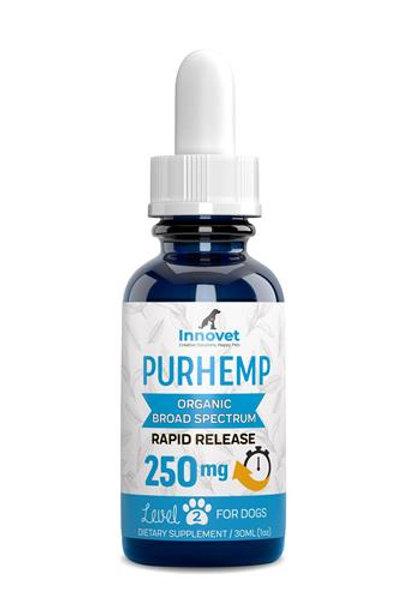 Innovet Pet Products PurHemp Organic Broad Spectrum Hemp Extract 250mg