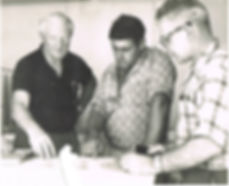 Don & Eric Bellingham (centre & right) d