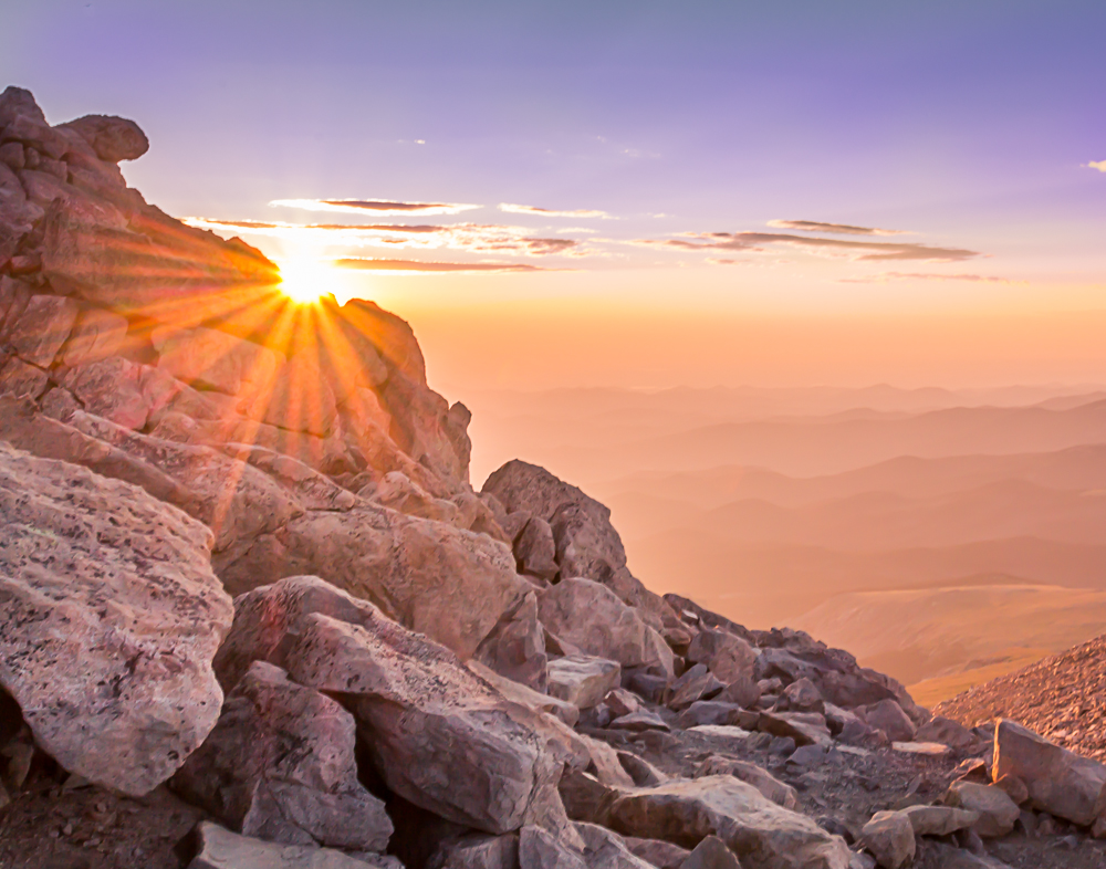 Sunrise on Mt. Evans