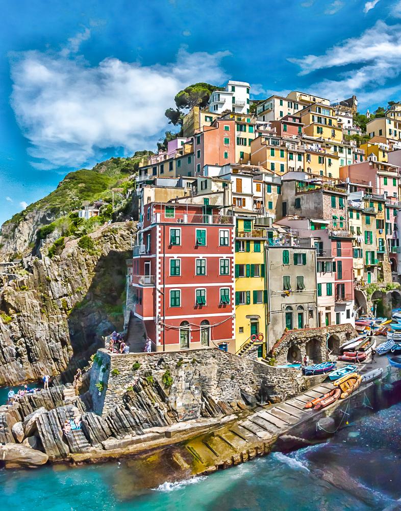 Riomaggiore Cliffside