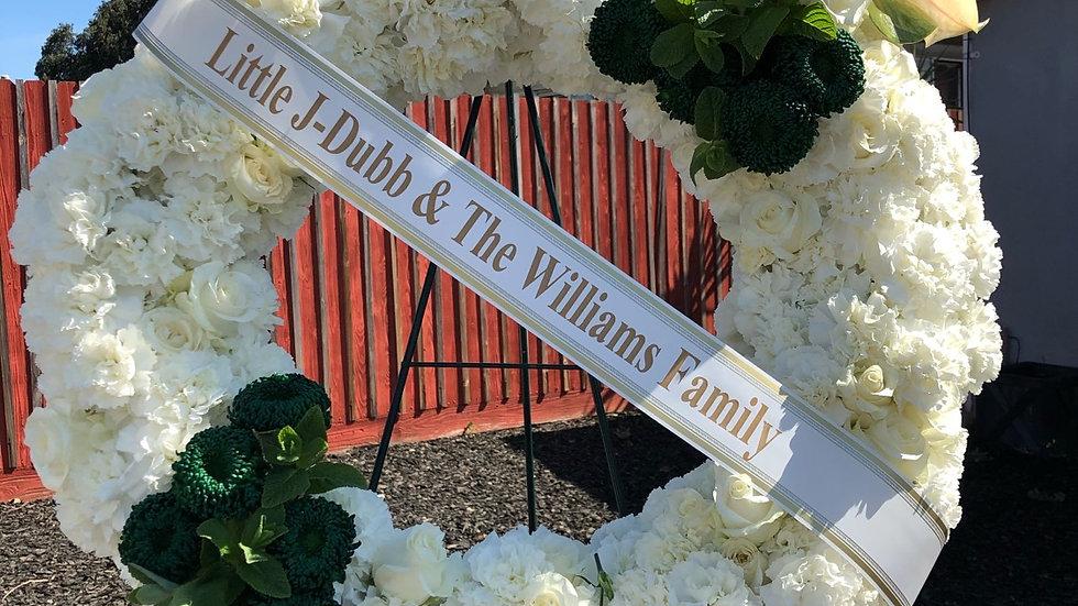 Funeral: Circle wreath