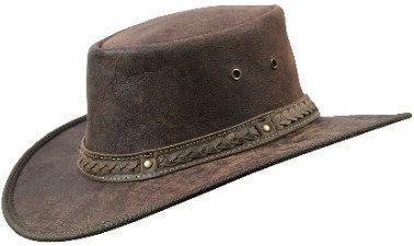 Kangaroo Squashy Hat - Brown